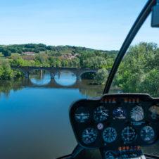 Survol de la Dordogne, la rivière espérance...